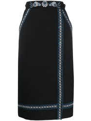 Vilshenko Embroidered Wrap Front Skirt 60