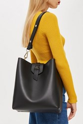 Topshop Hobo Bag Black