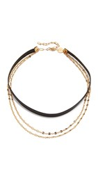 Jennifer Zeuner Jewelry Quinn Choker Necklace Black Gold