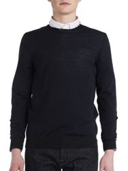 Valentino Colorblock Knit Sweater Grey