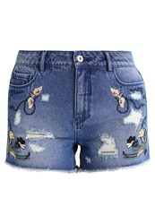 Only Onlpacy Denim Shorts Dark Blue Denim Dark Blue Denim