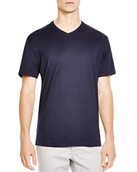 The Men's Store At Bloomingdale's Pima Cotton V Neck Tee Navy