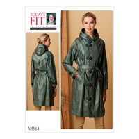 Vogue Raincoat With Hood And Belt Sewing Pattern 1564