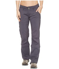Prana Halle Convertible Pants Coal Women's Casual Pants Gray