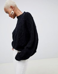 Minimum Moves By Premium Round Neck Jumper Black