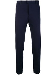 Fay Skinny Fit Trousers Blue