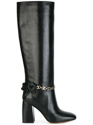 Tory Burch Chain Detailing Boots Black