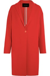 Cedric Charlier Boiled Wool Coat Red