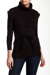 Chaudry Sleeveless Turtleneck Sweater Black