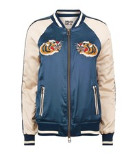 Pam And Gela Embroidered Tiger Bomber Jacket Female Multi