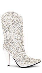Jeffrey Campbell Studlet Boot In White. White And Silver