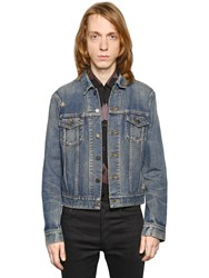 Saint Laurent Oversized Repaired Cotton Denim Jacket