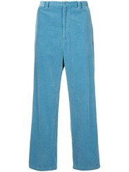 08Sircus Corduroy Straight Fit Trousers Blue