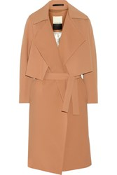 By Malene Birger Pasinios Convertible Crepe Trench Coat Tan