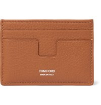 Tom Ford Grained Leather Card Holder Orange