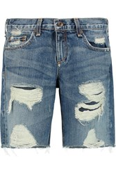 Rag And Bone Walking Short Denim Shorts Mid Denim