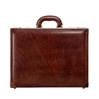 Maxwell Scott Bags Traditional S Italian Crafted Attache Case In Tan