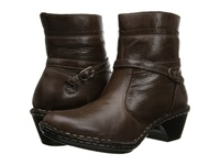 Lobo Solo Riley Brown Leather Women's Zip Boots