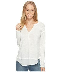 Sanctuary Faraday Henley Top Milk Women's Clothing White