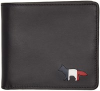Maison Kitsune Black Cut Out Bifold Wallet