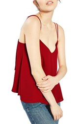 Topshop Women's Rouleau Swing Camisole Red
