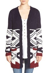 Junior Women's Woven Heart Southwest Open Cardigan