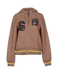 Hydrogen Sweatshirts Light Brown