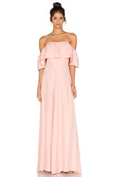 Amanda Uprichard Delilah Maxi Dress Pink