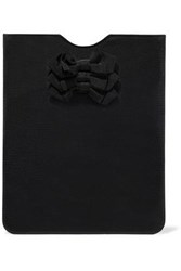 Red Valentino Bow Embellished Grosgrain Ipad Case Black