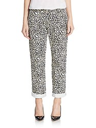 Stella Mccartney Animal Print Boyfriend Jeans Black Print