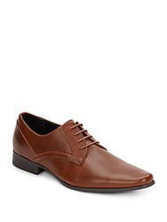 Calvin Klein Benton Leather Oxfords British Tan