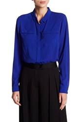 T Tahari Tribeca Blouse Blue