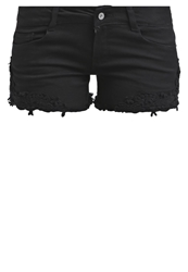 Only Onlcarrie Denim Shorts Black