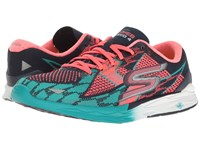 Skechers Go Meb Speed 4 Navy Hot Pink Women's Running Shoes Multi