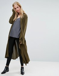 Religion Freedom Duster Coat Khaki Green