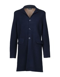 Zanieri Coats And Jackets Overcoats Dark Blue