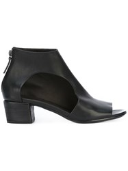 Marsell Cut Out Ankle Boots Women Leather 37.5 Black