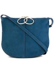 Nina Ricci 'Kuti' Satchel Bag Women Suede One Size Blue