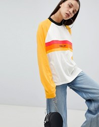 The Ragged Priest Long Sleeve Boyfriend T Shirt With Slogan White