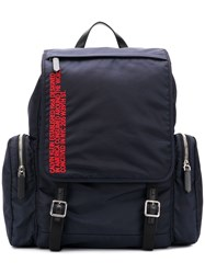 Calvin Klein 205W39nyc Embroidered Flap Backpack Blue