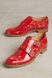 Anthropologie The Office Of Angela Scott Mr. Colin Flower Oxfords Red