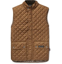 Belstaff Quilted Shell Gilet Brown