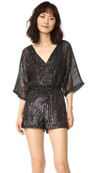 Bb Dakota Clare Sequin Romper Black