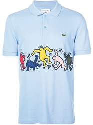 Lacoste X Keith Haring Polo Shirt Blue
