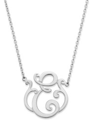 Giani Bernini Sterling Silver Necklace 'E' Initial Pendant Necklace