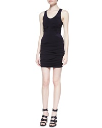 Cut25 By Yigal Azrouel Sleeveless Ruched Fitted Jersey Dress