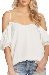 1.State Women's Balloon Sleeve Off The Shoulder Top Cloud