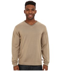 Mountain Khakis Cascade Merino V Neck Sweater Retro Khaki Men's Sweater