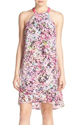 Women's Charlie Jade Floral Print Silk Halter Shift Dress