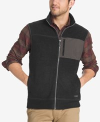 G.H. Bass And Co. Men's Zip Up Vest Charcoal Black Heather
